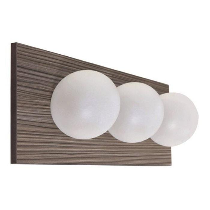 applique salle de bain aube 3 lumi res classe 2 ip24 blanc millumine la redoute. Black Bedroom Furniture Sets. Home Design Ideas