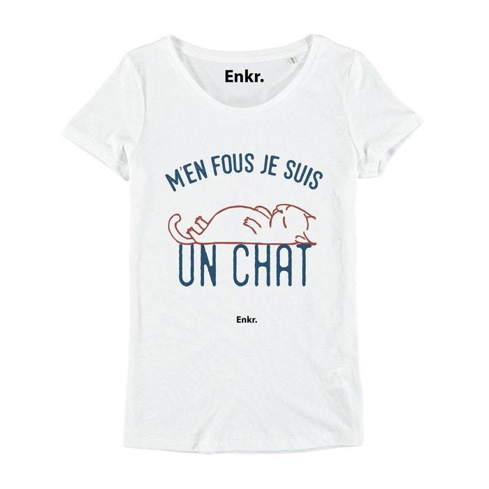 tee shirt femme je suis un chat blanc enkr la redoute. Black Bedroom Furniture Sets. Home Design Ideas