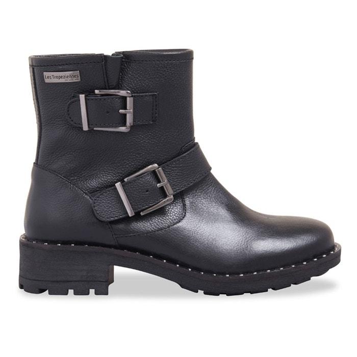 Vente Boutique En Ligne Visite Libre Expédition Nouvelle Boots motardes cuir lalie noir Les Tropeziennes Par M Belarbi Boutique En Ligne Pas Cher Vente Pas Cher Obtenir Authentique L4lALMX