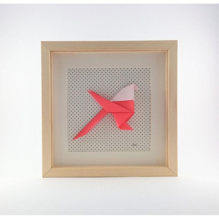 cadre origami m sange rouge et rose 20x20cm rouge et rose alfred et compagnie la redoute. Black Bedroom Furniture Sets. Home Design Ideas