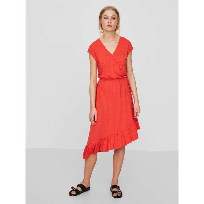 Robe sans manches cache-c ur poppy red Vero Moda  e9d3abeac7d