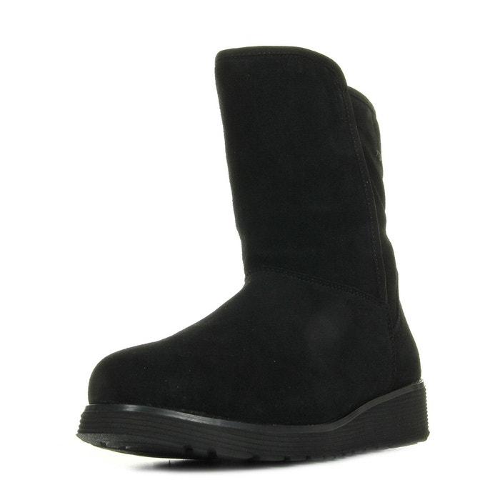Bottes femme bunny slope black noir Skechers