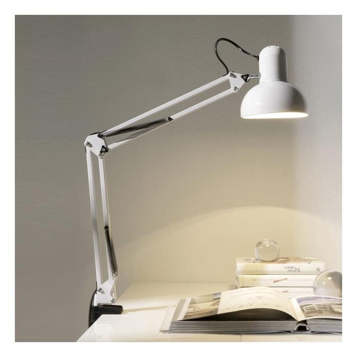 lampe de bureau pince moderne helsinki zendart s lection blanc noir zendart la redoute. Black Bedroom Furniture Sets. Home Design Ideas