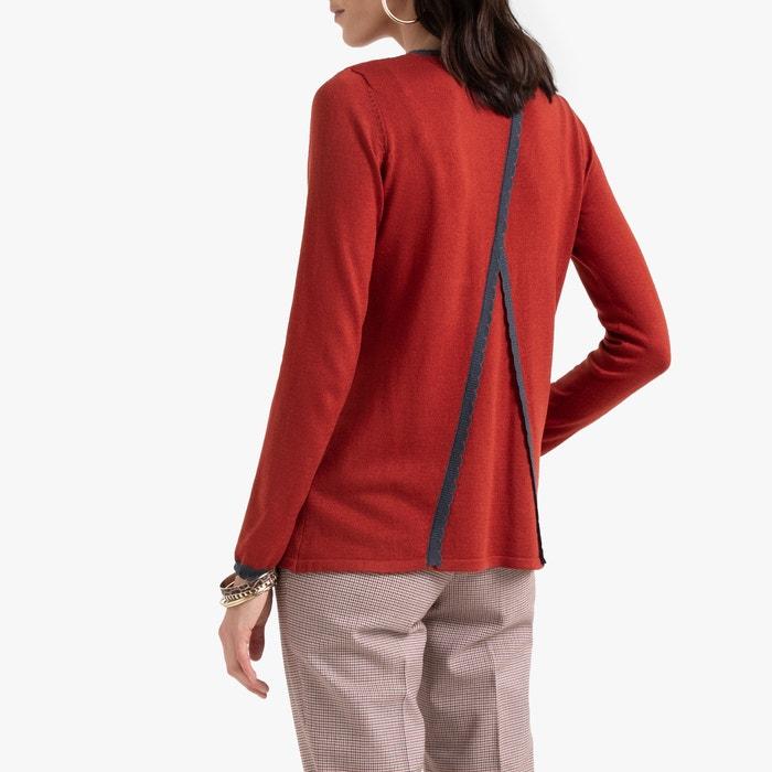 Trui met ronde hals, fantasie achteraan, in fijn tricot  ANNE WEYBURN image 0