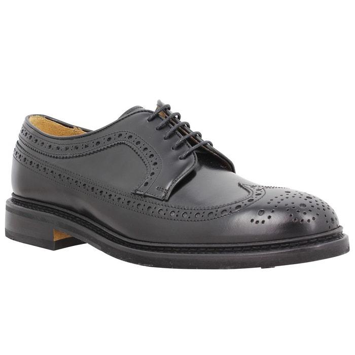 Sebago Merida cuir Homme Noir Noir - Livraison Gratuite avec - Chaussures Derbies Homme