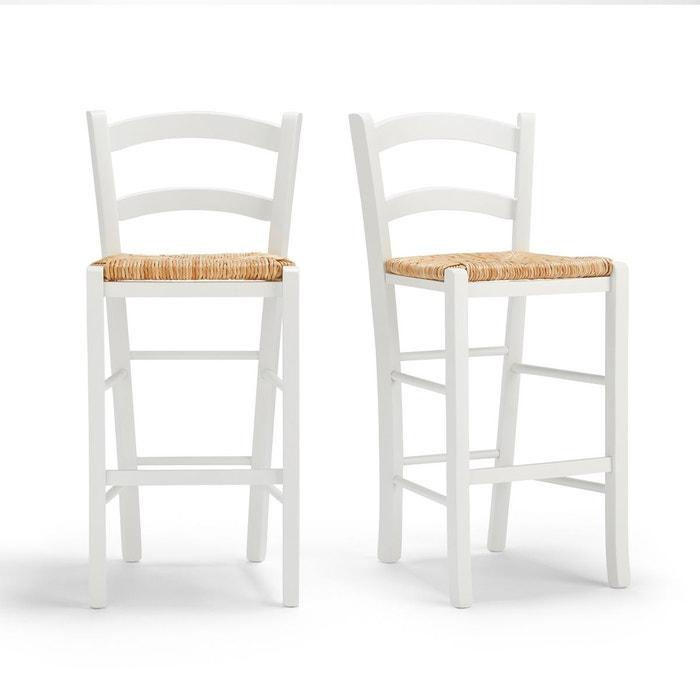 chaise de bar mi hauteur perrine lot de 2 la redoute interieurs la redoute. Black Bedroom Furniture Sets. Home Design Ideas