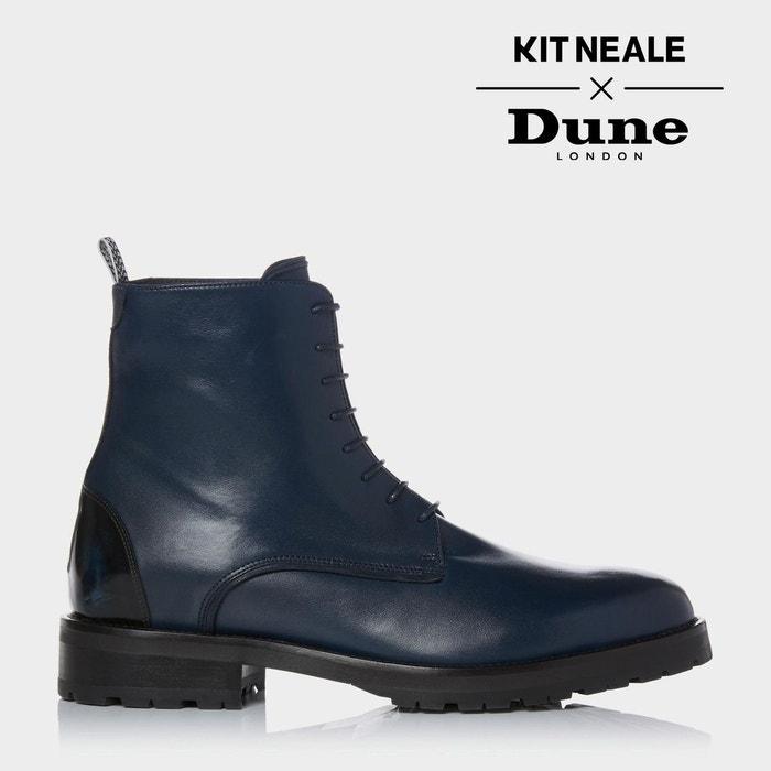 Boots cranté cuir bleu Bleu marine Hdpy0a