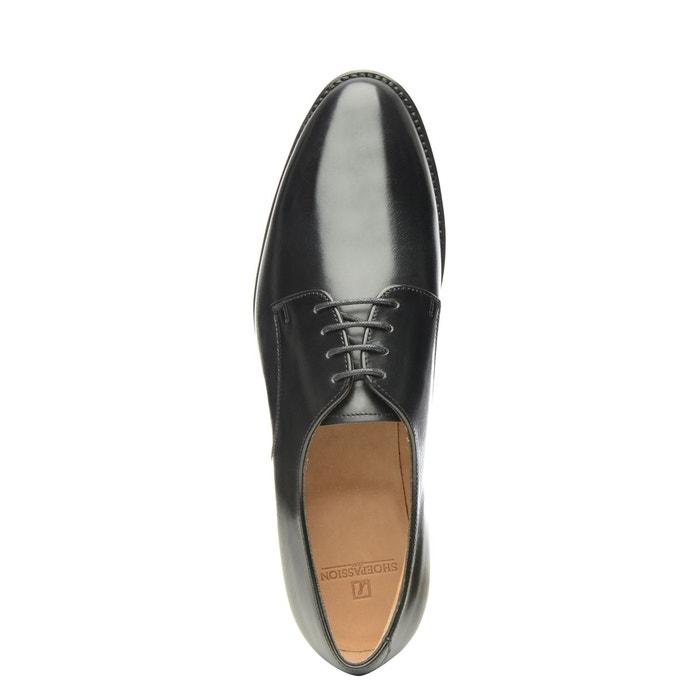 Derby plain en noir noir Shoepassion