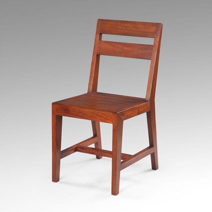 chaise manguier massif benedict kha home design la redoute. Black Bedroom Furniture Sets. Home Design Ideas