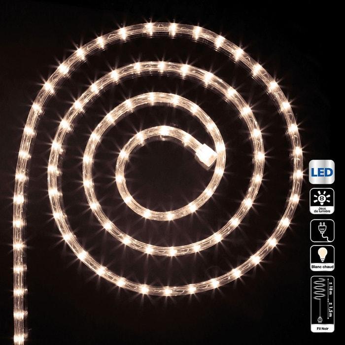 Guirlande tube led d 39 ext rieur 18 m blanc chaud blanc for Tube led exterieur