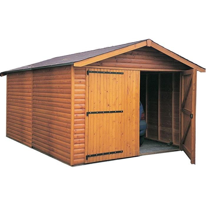 Garage En Bois Avec Porte Double Kompact 29263412 Jardindeco La