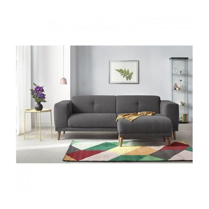 canape 3 places luna avec pouf enjoy gris fonce bobochic la redoute. Black Bedroom Furniture Sets. Home Design Ideas