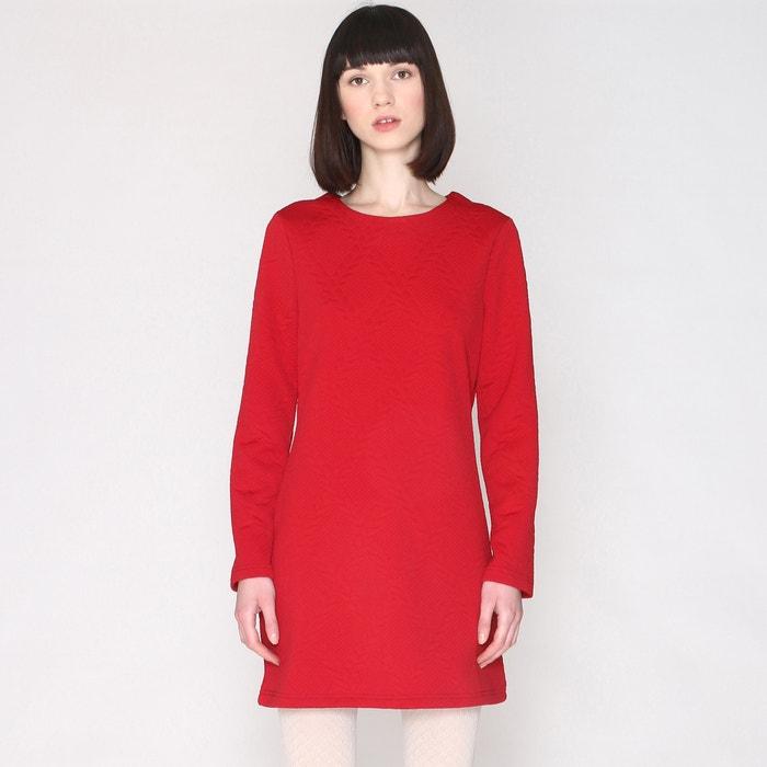 afbeelding Rechte jurk in sweater spirit met lange mouwen PEPALOVES