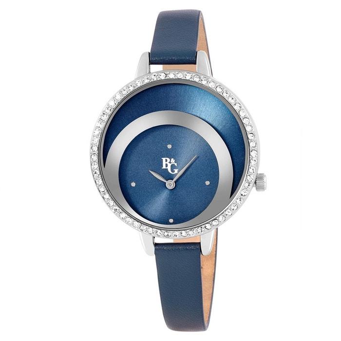 Montre en cuir bleu bleu B&G | La Redoute Meilleure Vente De Sortie LGqhY9Xam