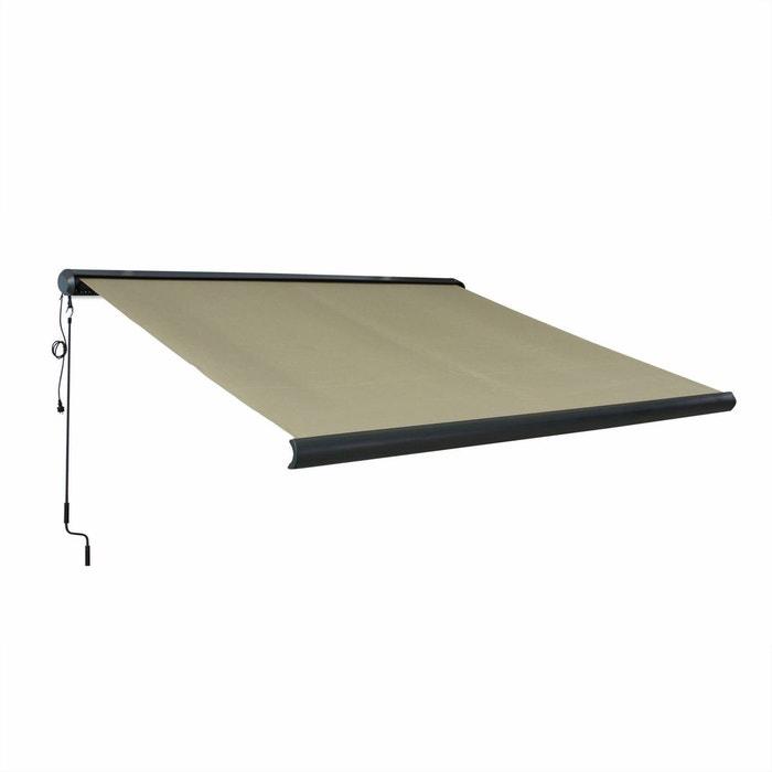 store banne lectrique ombrec 3x2 5m coffre int gral taupe. Black Bedroom Furniture Sets. Home Design Ideas