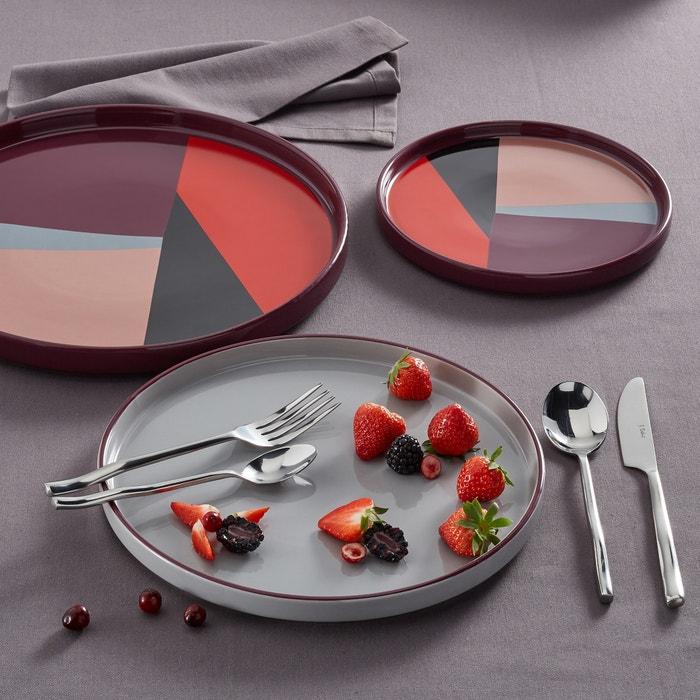 lot 4 assiettes dessert driskol multicolore la redoute interieurs la redoute. Black Bedroom Furniture Sets. Home Design Ideas