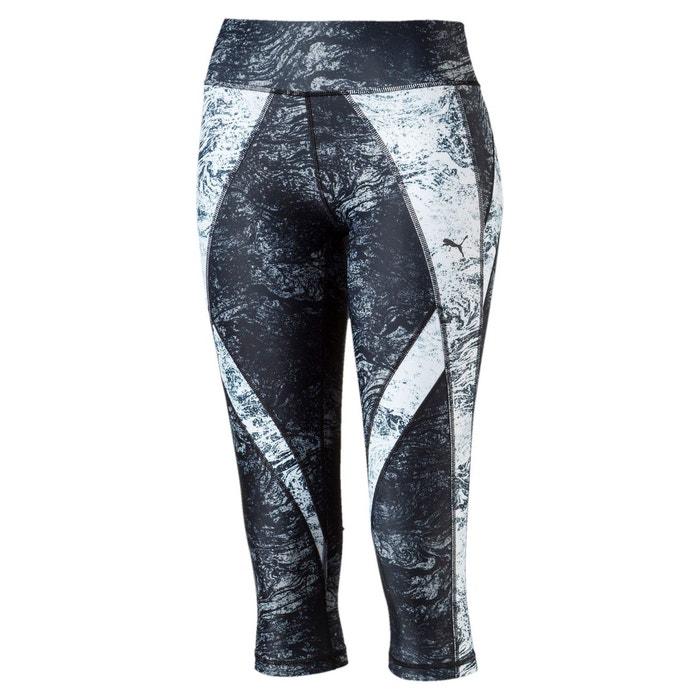 0a4c9e044 Pantalon de sport 3 4 active training explosive pour femme black wht nature  print Puma