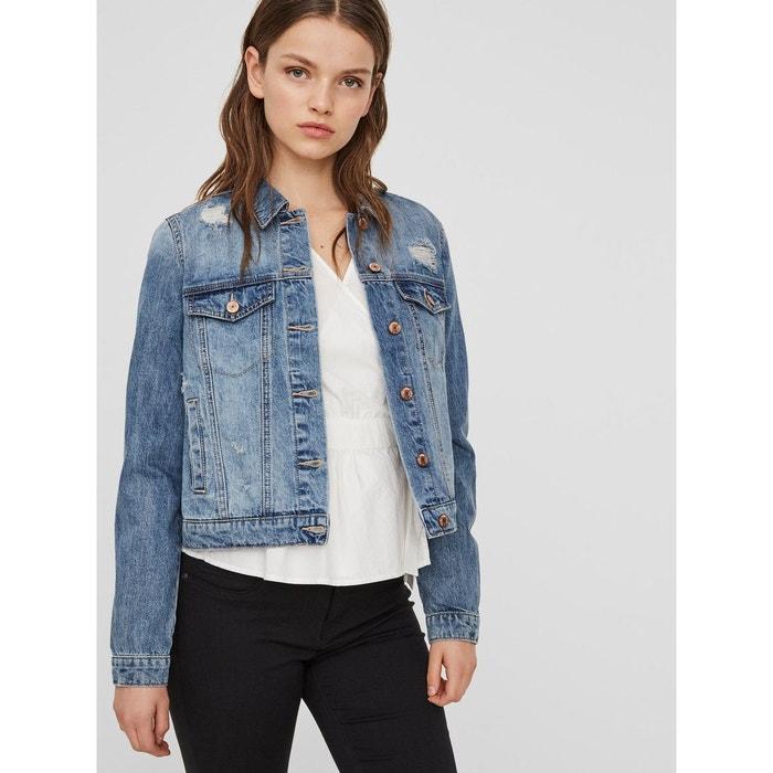 Veste en jean courte medium blue denim Vero Moda   La Redoute 71600b29456e