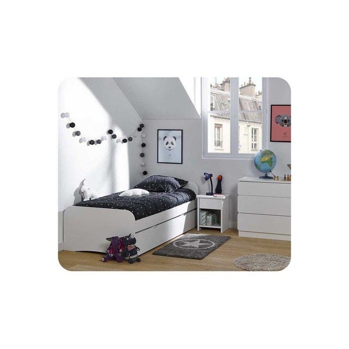 pack lit enfant gigogne twist 90x190 cm avec 2 matelas ma. Black Bedroom Furniture Sets. Home Design Ideas