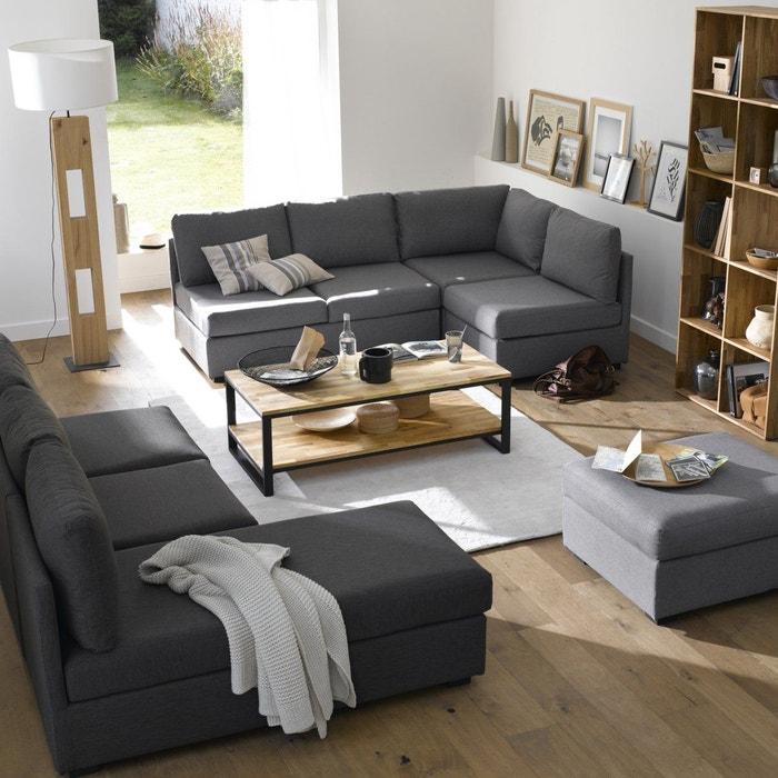 table basse ch ne et acier hiba la redoute interieurs la redoute. Black Bedroom Furniture Sets. Home Design Ideas