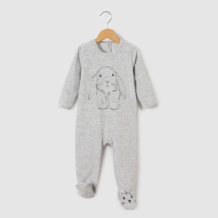 336a25b2b8ab1 Pyjama velours 0 mois-3 ans gris chiné R Mini