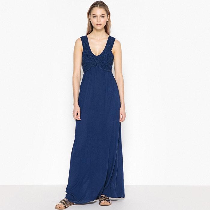 Платье длинное, верх связан крючком, сборки сзади  La Redoute Collections image 0