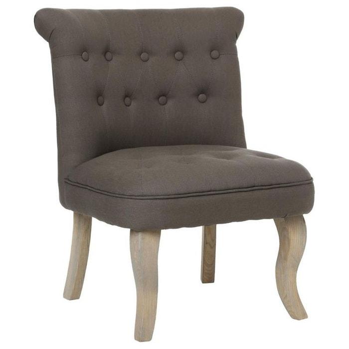 fauteuil crapaud capitonn en tissu gris fonc et pieds. Black Bedroom Furniture Sets. Home Design Ideas