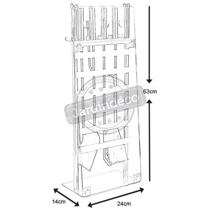 Valet de cheminée moderne métal et verre Aubry Gaspard | La Redoute