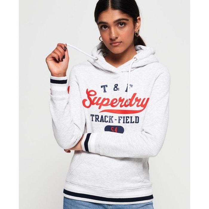 Pull ras du cou ample Vee Varsity Rouge Nautique   Femme Superdry Sweat à capuche