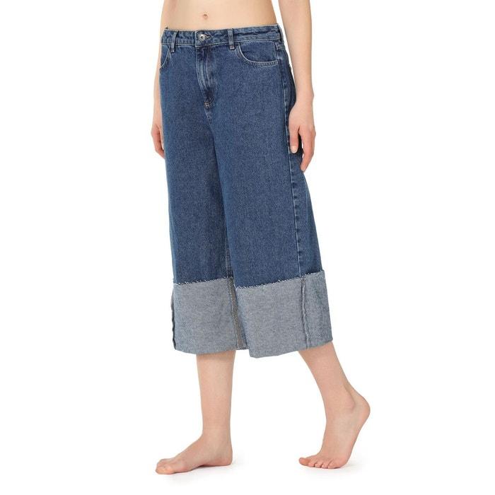 1228c02c089fd4 Jupe-Culotte en jean à revers