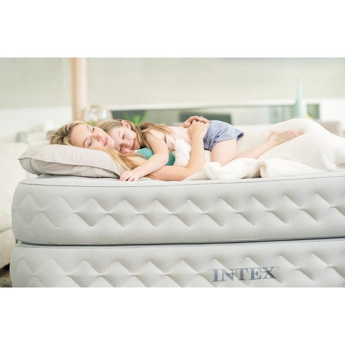 Lit D Appoint Gonflable Confort Supreme 1 Personne Gris Intex La Redoute