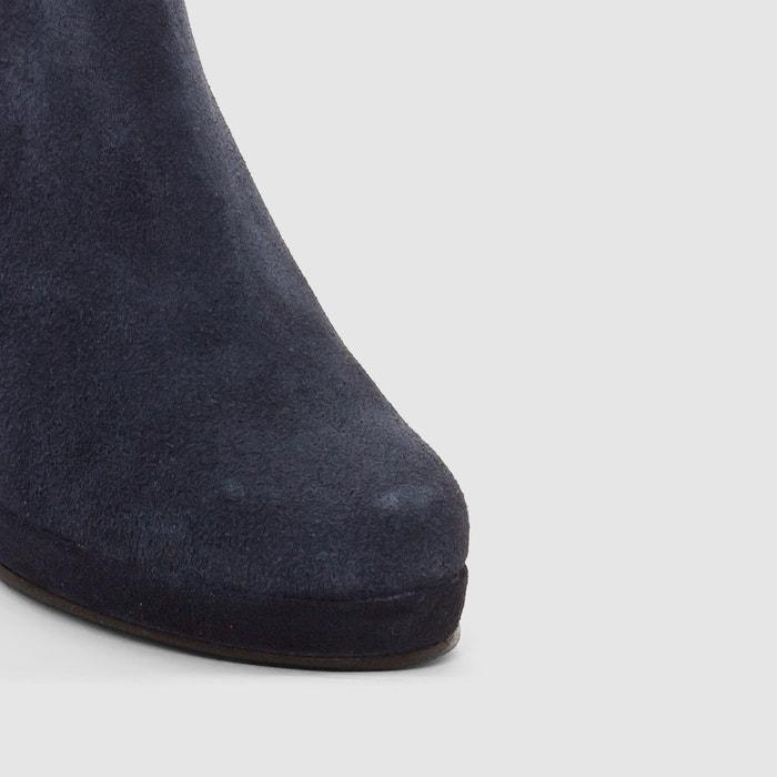 Image Boots, croûte de cuir ANNE WEYBURN
