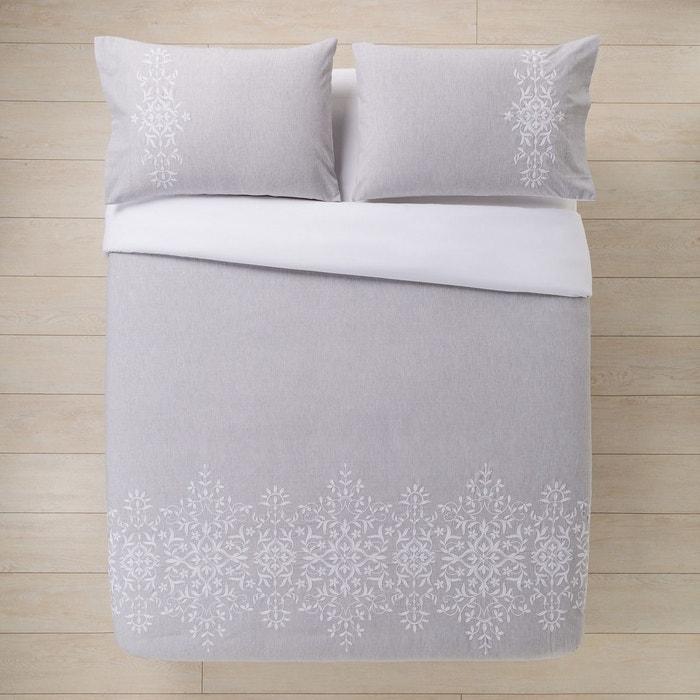 parure housse de couette linton gris el corte ingles la redoute. Black Bedroom Furniture Sets. Home Design Ideas