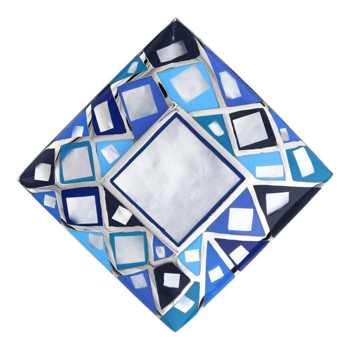 Pendentif carré bleu nacre blanche acier inoxydable couleur unique So Chic Bijoux | La Redoute Choisir Une Meilleure Prise Réduction Des Achats En Ligne Payer Avec Visa Pas Cher En Ligne Jeu Images Footlocker LkH3UwhyM