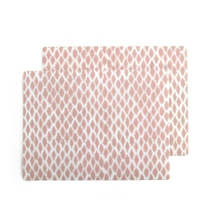 Set de table imprim irmia lot de 2 imprim rose clair - Haut bonheur de la table cassel ...