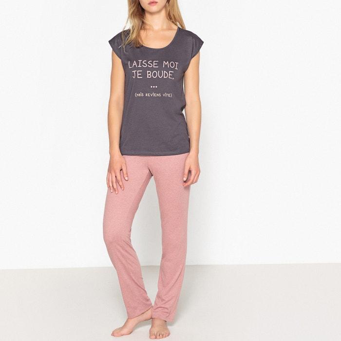 Pijama de algodón estampado  La Redoute Collections image 0
