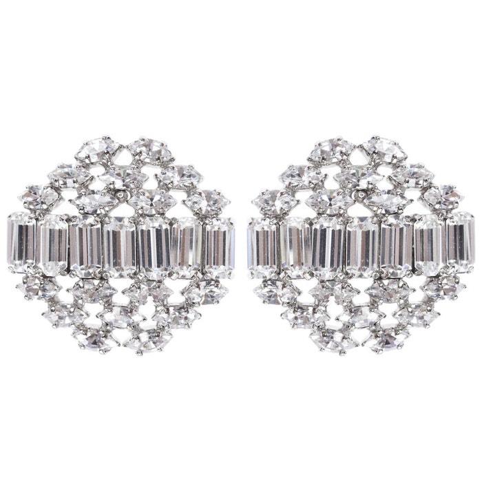 Boucles d'oreilles clip mia transparent Reine Rosalie | La Redoute