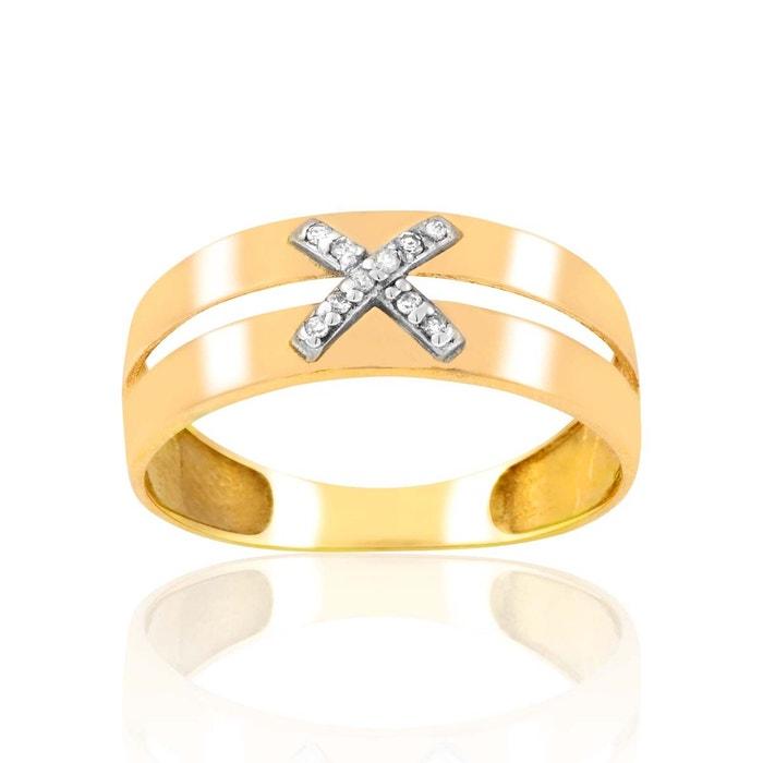 Bague or 375/1000 diamant blanc Cleor | La Redoute Vente 2018 1Drxee8et9