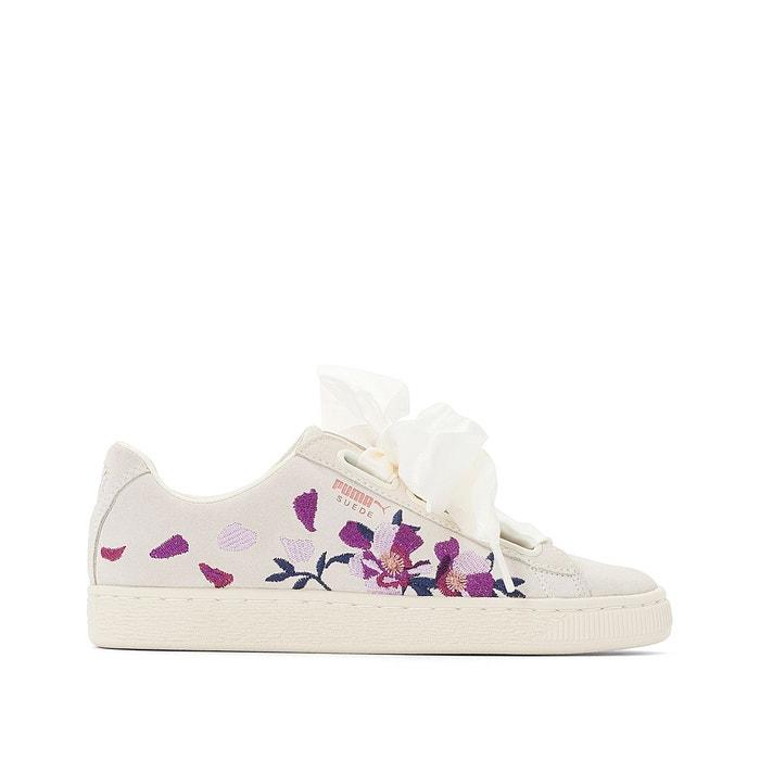Fleurs Suede Imprimé Wn Baskets Flowery Redoute PumaLa Heart 34RLj5A