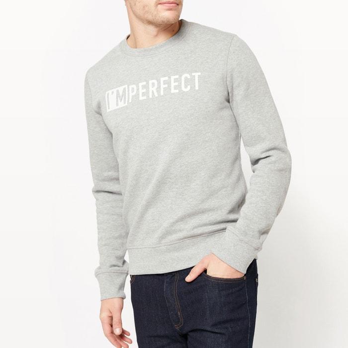 Image Crew Neck Sweatshirt with Printed Slogan R édition