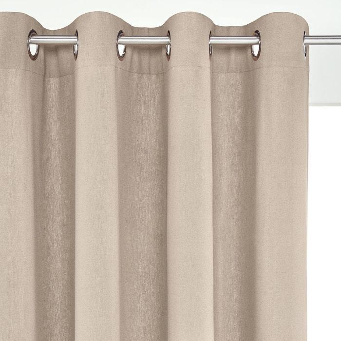 rideau lin coton illets ta ma la redoute interieurs la redoute. Black Bedroom Furniture Sets. Home Design Ideas