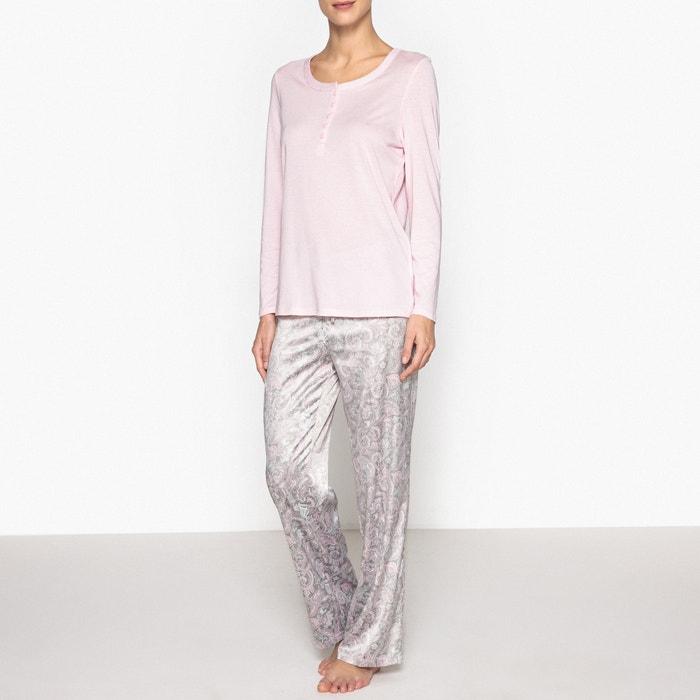 Dual Fabric Printed Pyjamas  La Redoute Collections image 0