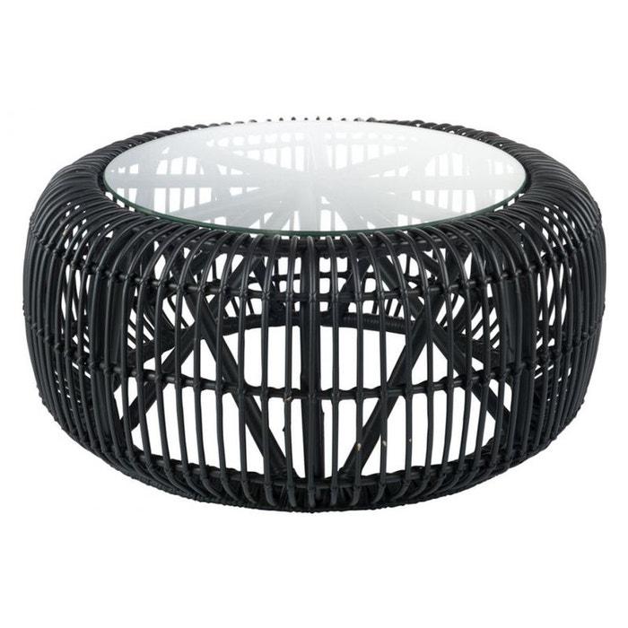 Table basse ronde rotin noir hellin depuis 1862 la redoute - Table ronde la redoute ...