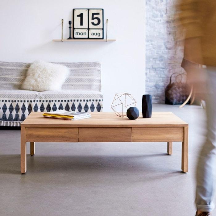 table basse en bois de teck 120x80 eden teck naturel tikamoon la redoute. Black Bedroom Furniture Sets. Home Design Ideas