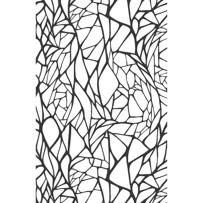papier peint intiss rib of leaf multicolore le papiers de ninon la redoute. Black Bedroom Furniture Sets. Home Design Ideas