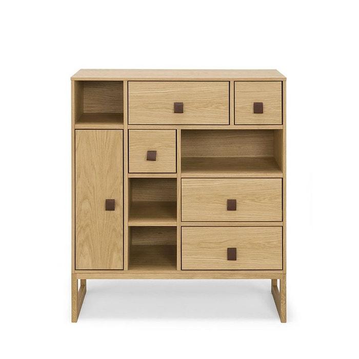 buffet haut contemporain bois slussen naturel woodman la redoute. Black Bedroom Furniture Sets. Home Design Ideas