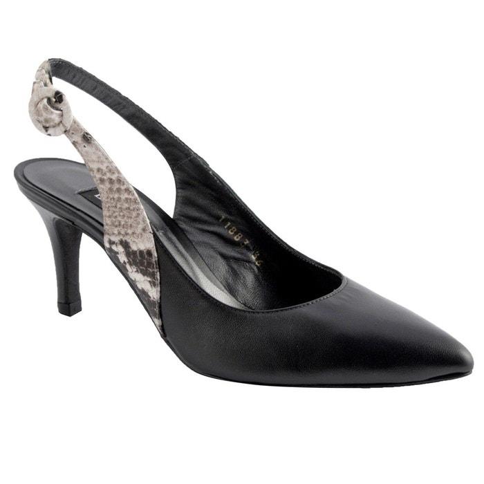 Chaussures à talons virna noir Exclusif Paris