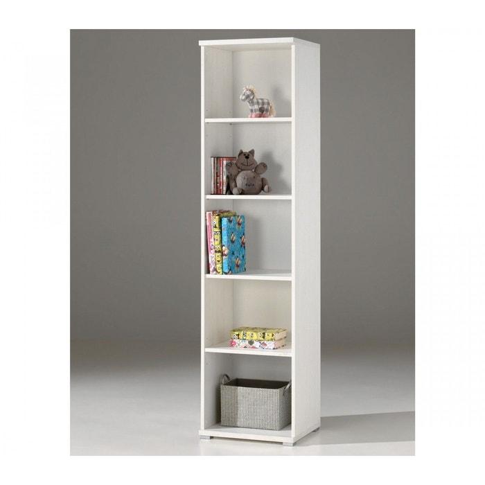 Biblioth que en bois blanc bi2004 blanc terre de nuit la redoute - La redoute bibliotheque ...
