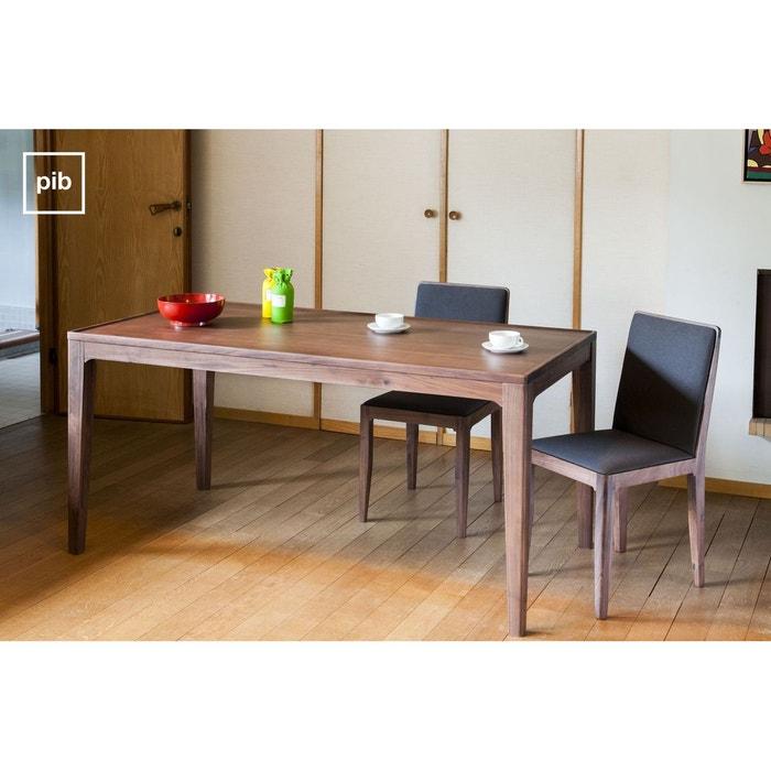 table en noyer hem t couleur unique produit interieur brut la redoute. Black Bedroom Furniture Sets. Home Design Ideas