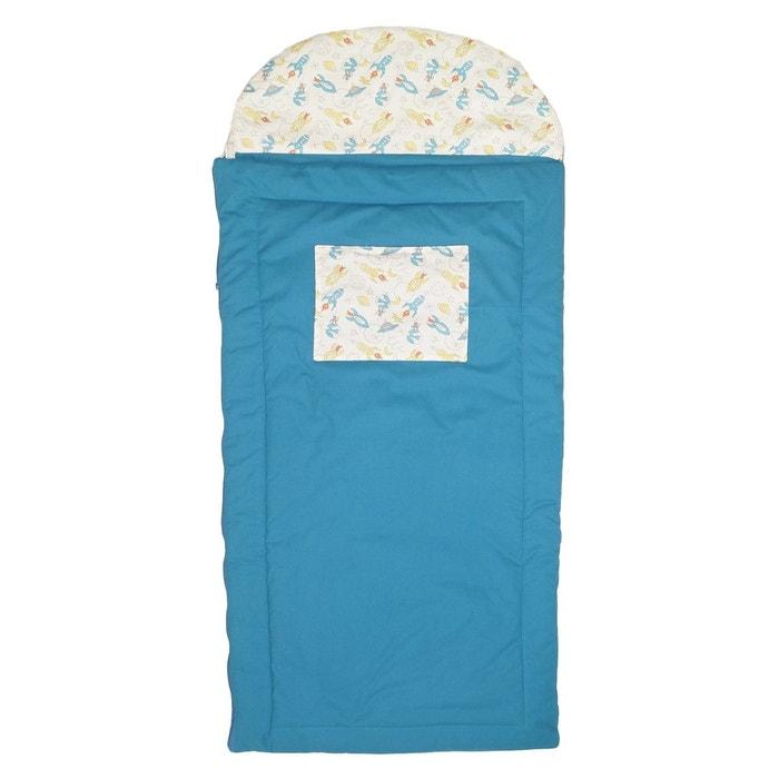 sac de couchage enfant gar on fus es bleu lagon luciole et. Black Bedroom Furniture Sets. Home Design Ideas